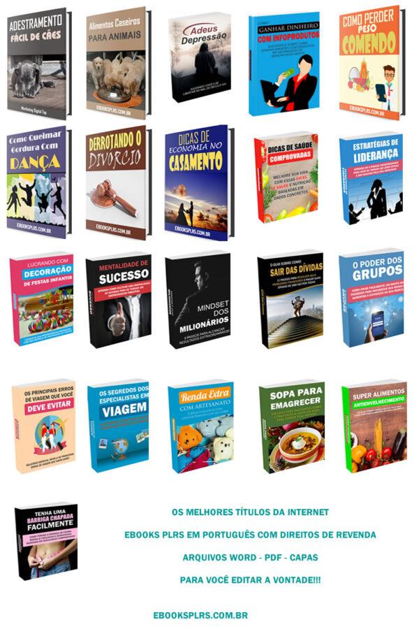 21 ebooks plrs em portugues com direitos de revenda