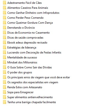 lista dos ebooks plrs